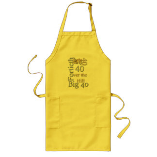 40 forty fortieth 40th party reunion celebration long apron