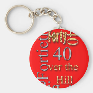 40 forty fortieth 40th party reunion celebration key chains