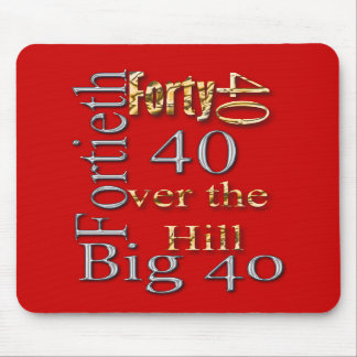 40 forty fortieth 40th party reunion celebration mouse pads
