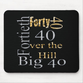40 forty fortieth 40th party reunion celebration mouse pad