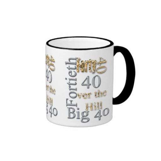 40 forty fortieth 40th party reunion celebration coffee mugs