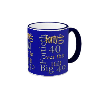 40 forty fortieth 40th party reunion celebration ringer coffee mug
