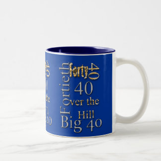40 forty fortieth 40th party reunion celebration Two-Tone coffee mug
