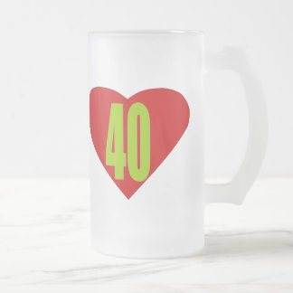 40 FROSTED GLASS BEER MUG