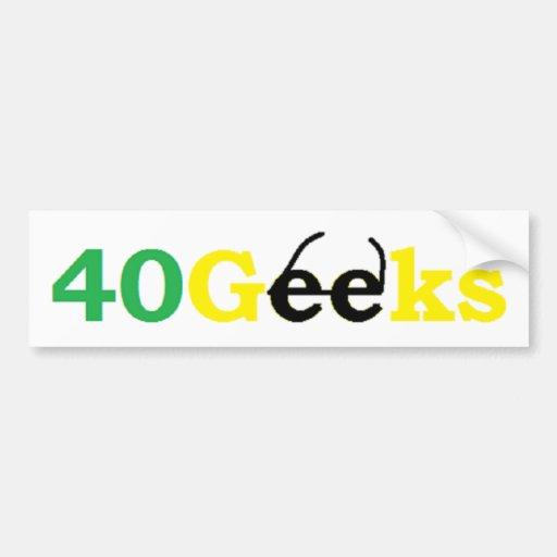 40 Geeks Stuff Bumper Stickers
