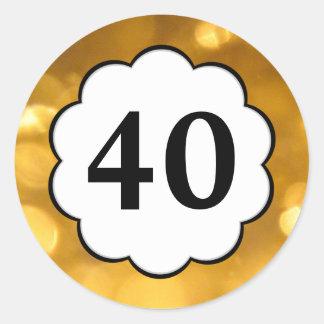 40 - Golden Numbers Sticker