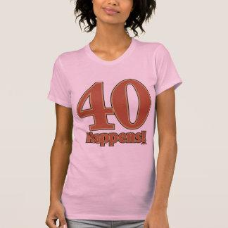 40 happens! - PINK T-Shirt