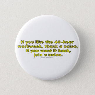 40-hour 6 cm round badge