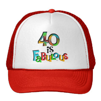 40 is Fabulous Birthday T-shirts and Gifts Cap