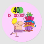 40 is Good Birthday Tshirts and Gifts Sticker