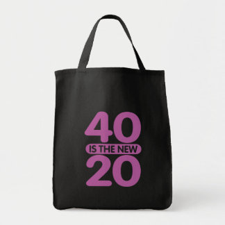 40 Is The New 20 Canvas Bag