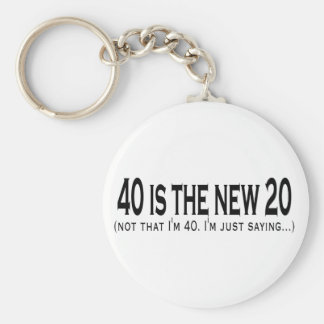 40 is the new 20 basic round button key ring