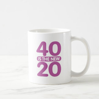 40 Is The New 20 Basic White Mug