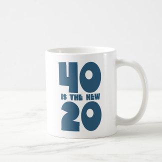 40 is the new 20 basic white mug