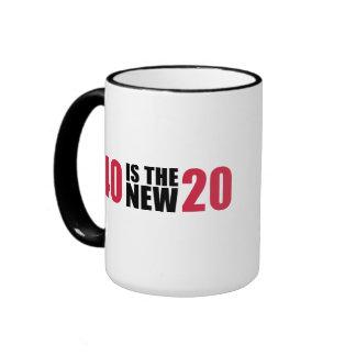 40 is the new 20 birthday coffee mugs