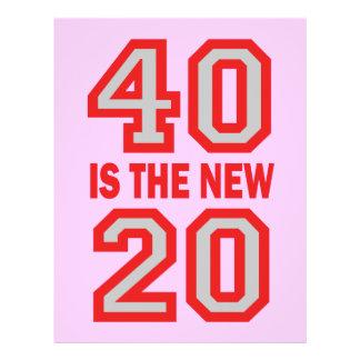 40 is the new 20 custom flyer