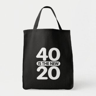 40 Is The New 20 Grocery Tote Bag