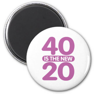 40 Is The New 20 Refrigerator Magnet