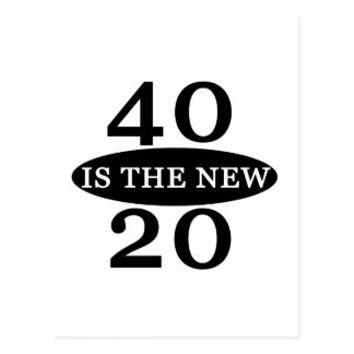 40 Is The New 20 Postcard