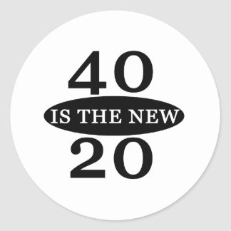 40 Is The New 20 Round Sticker