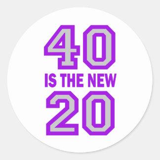40 is the new 20 round sticker