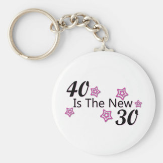 40 is the new 30 basic round button key ring