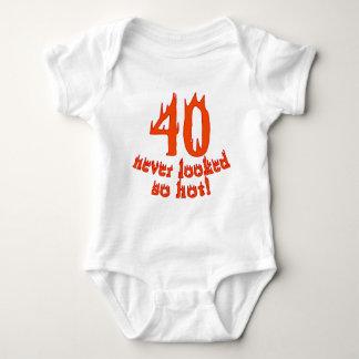 40 Never Looked So Hot Baby Bodysuit