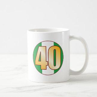 40 NIGERIA Gold Coffee Mug