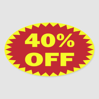 40 Off Retail Sale Stickers