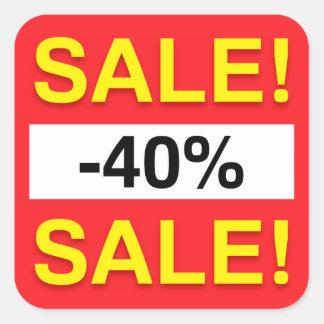 40 percent sale discount stickers