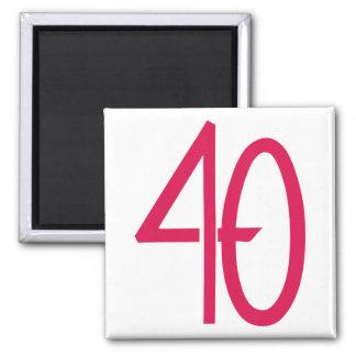 40 Pink Magnet