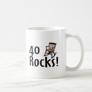 40 Rocks Basic White Mug