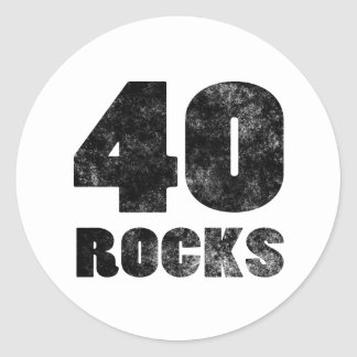 40 Rocks Round Sticker