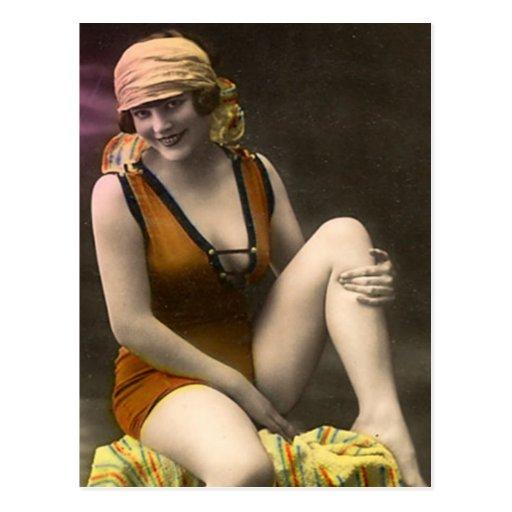40 Sassy Swimsuit Vintage Postcard