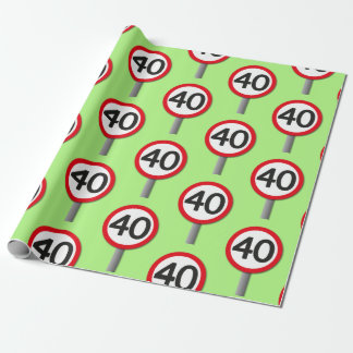 40 Sign Wrapping Paper