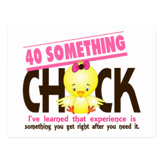 40-Something Chick 2 Postcard
