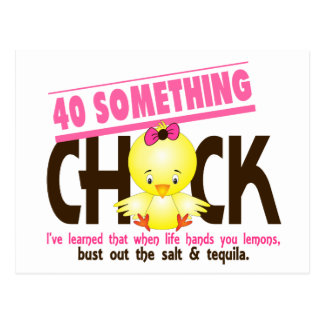 40-Something Chick 4 Postcard