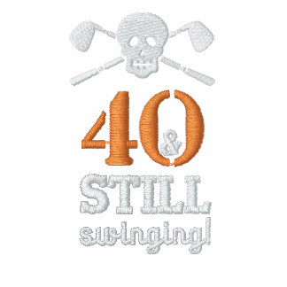 40 & Still Swinging - Golf Birthday Shirt Polo Shirts