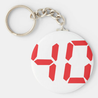 40 thirty-fourty red alarm clock digital number keychain