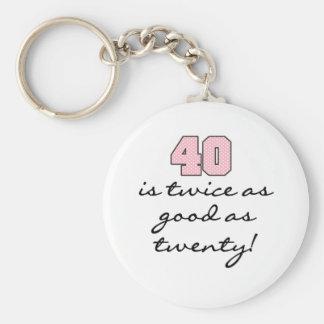 40 Twice as Good as 20 Keychain
