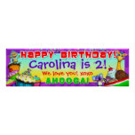"""40""""x12"""" GiggleBellies Cupcakes B-Day Banner"""