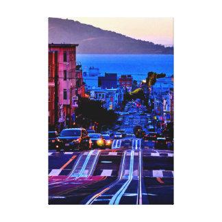 40 X 60 SCENIC SAN FRANCISCO CITY CANVAS PRINT