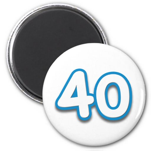 40 Year Birthday or Anniversary - Add Text Magnet