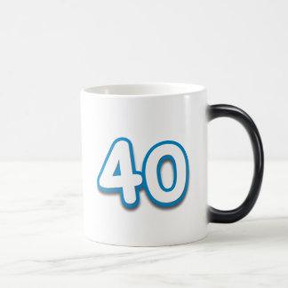 40 Year Birthday or Anniversary - Add Text Mugs