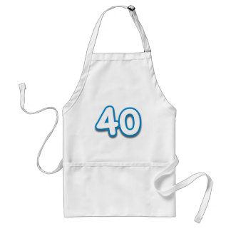 40 Year Birthday or Anniversary - Add Text Standard Apron
