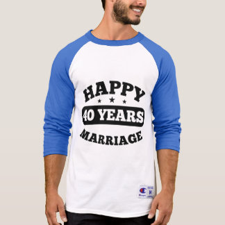 40 Year Happy Marriage T-Shirt