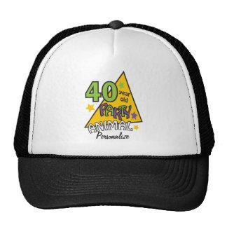 40 Year Old Party Animal | 40th Birthday DIY Name Cap