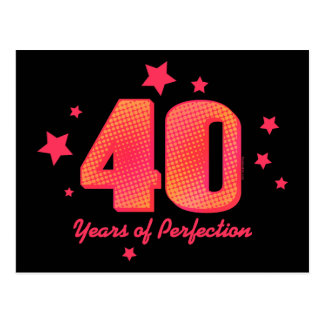 40 Years of Perfection Postcard