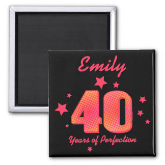 40 Years of Perfection Square Magnet