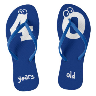 40 years old Cool Birthday Design Thongs